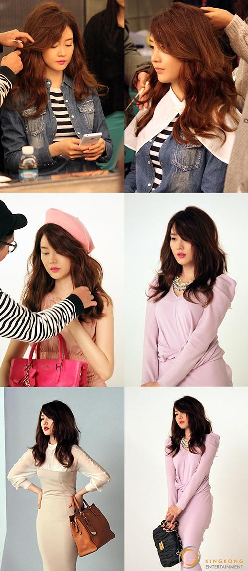 Sung Yu ri, behind photos in tight skirts