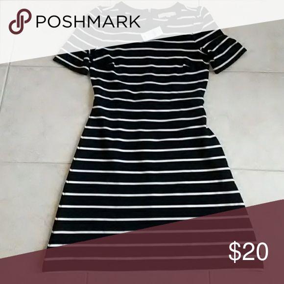 Loft dress, new with tags Cute striped dress LOFT Dresses