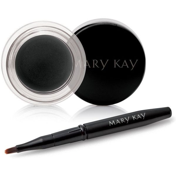 Mary Kay Gel Eyeliner With Expandable Brush Applicator ($18) ❤ liked on Polyvore featuring beauty products, makeup, eye makeup, eyeliner, beauty, fillers, pencil eyeliner, gel eye liner, mary kay and long wearing eyeliner