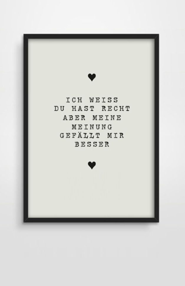 Typo/Druck Meinung // print/poster opinion by pap-seligkeiten via DaWanda.com