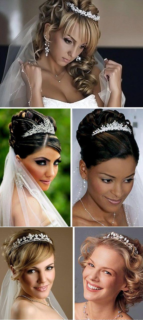 средние свадебные прически фото