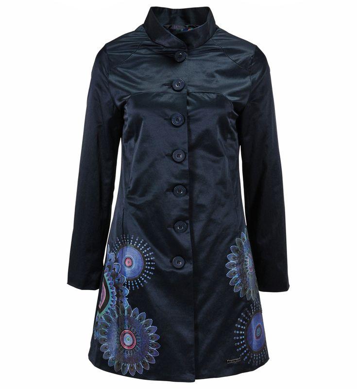 Manteau desigual noir et blanc pas cher