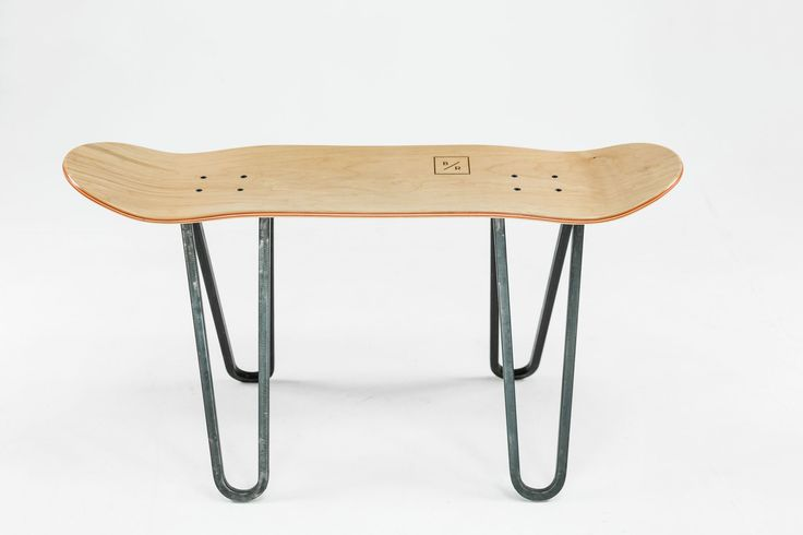 The Steel One by Baked / Roast - Handmade skateboard furniture from Breda, the Netherlands - Studio photography - Available at www.bakedroast.com