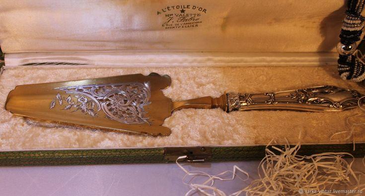 Антикварная лопатка для торта... начало XIX века серебро..Франция – купить в интернет-магазине на Ярмарке Мастеров с доставкой - F97ODRU