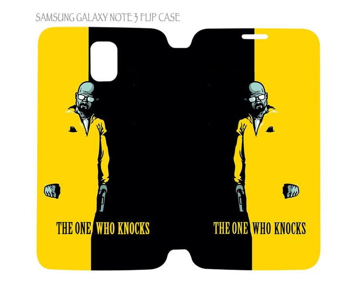 Samsung Galaxy Note 3 Flip Case Folio Cover Breaking Bad The One Who Knocks #QuinnCafe