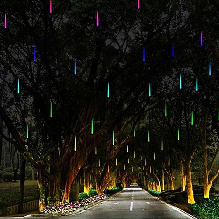 Día de fiesta Enciende Impermeable 30 cm Meteor Led Luz de La Lámpara 100-240 V Luz de la Secuencia de La Boda de Navidad Decoración Del jardín(China (Mainland))