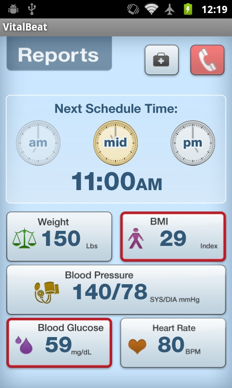 Vitalbeat mobile app used to monitor vitals for Congestive Heart Failure  patients.