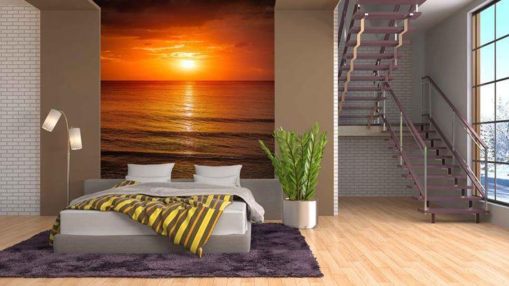 Sypialnie - zachód słońca to bardzo popularny motyw wśród naszych klientów.  http://mural24.pl/konfiguracja-produktu/42720025/ #homedecor #fototapeta #obraz #aranżacjawnętrz #wystrójwnętrz, #decor #desing