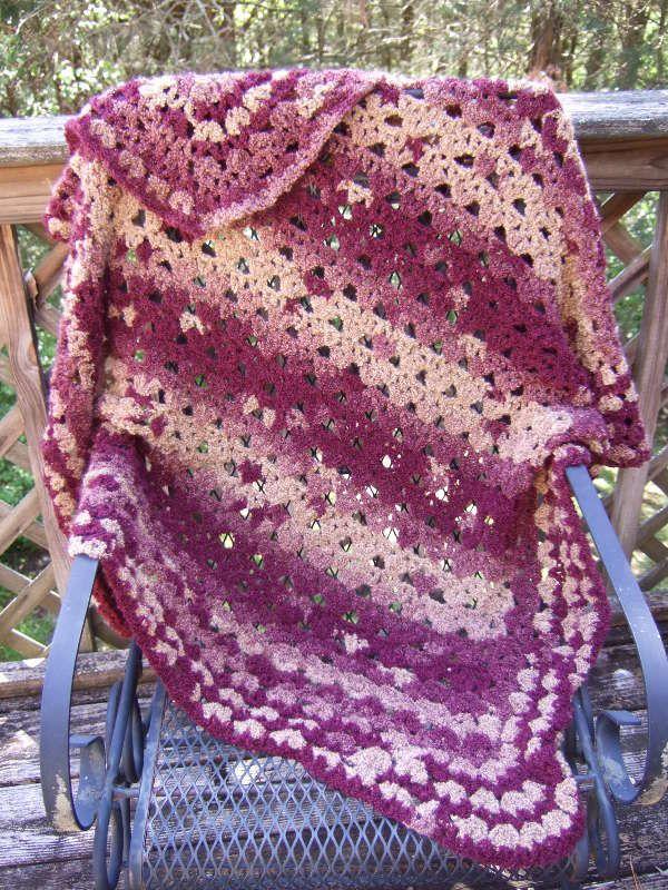 Free Crochet Afghan Patterns Using Homespun Yarn : No Beginning Chain Basket Pattern Throw - Afghans ...