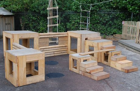 Goat Playground Wooden Block Naturally Wood By Design
