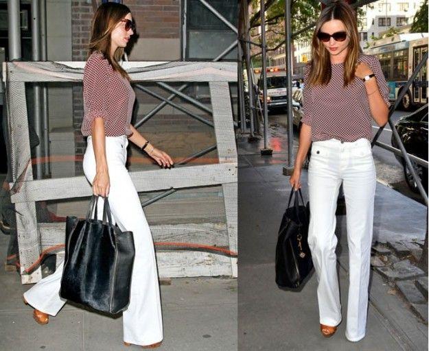 Tendenze moda, i pantaloni bianchi delle star [FOTO]