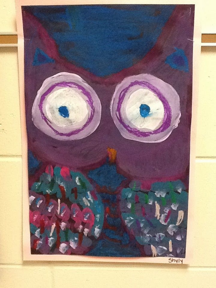 The 1 st grade students learned important facts about OWLS through a video.   We then learned about the PRIMARY colo...