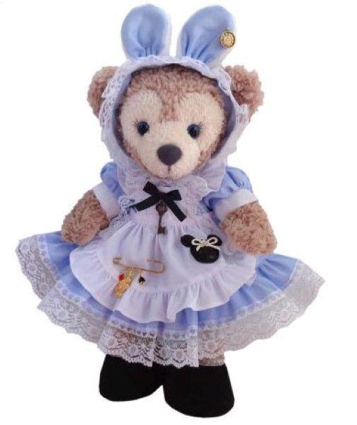 Shellie may Handmade costume bunny ear head with sky blue Alice in Wonderland