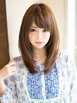 Japan レイヤーロング semi-long hair