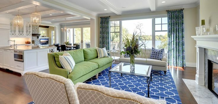 Blue and green living room new house pinterest - Blue and green living room ...