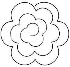 Spiral paper flower template