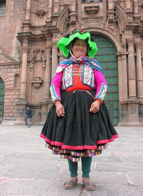 Traditional Dress Of Cusco, Peru.