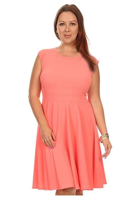 Round Neck Plus Size Dress