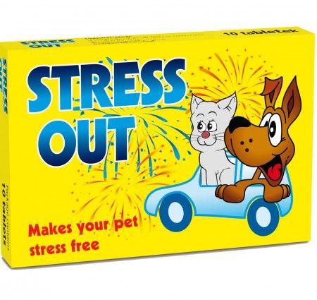 Stress Out 1 blister. Stress out to naturalny preparat uspokajający zalecany do stosowania u psów i kotów we wszelkich sytuacjach stresowych, takich jak np.: pokazy fajerwerków, przeprowadzka, podróż, czy wprowadzenie nowego domownika. Preparat nie powoduje uzależnień oraz nie ma skutków ubocznych, dlatego też jest bezpieczny przy długim stosowaniu.