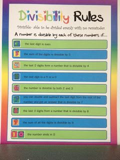 My Journey to 5th Grade: Divisibility Rules