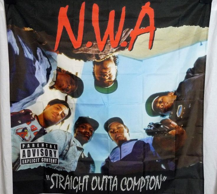 N.W.A Straight Outta Compton HUGE 4X4 banner poster tapestry cd album | eBay