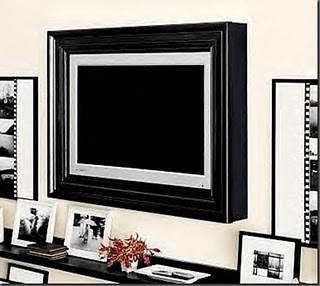 Full of Great Ideas: Picture perfect TV - Flat Screen TV Frame loveit