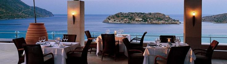 The resort's principal restaurant is named Olea after the olive trees found in enormous Cretan pots that adorn the impressive veranda. Every table features a stunning view to the sea and the isle of Spinalonga making breakfasts there a treasured moment serving a rich American buffet breakfast with French Champagne daily.