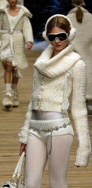are those sweater panties being worn as pants?