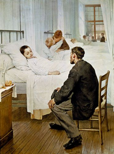henry jules jean geoffroy art | Image: Henri Jules Jean Geoffroy - Visiting Day at the Hospital