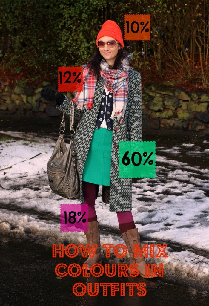 Mixing Colours In Outfits: They need to be in different proportions.