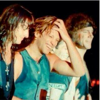 Richie Sambora, Jon Bon Jovi, and David Bryan of Bon Jovi