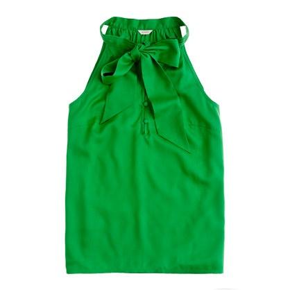 pretty color. pretty shirt.: Bows Cami, Crew Bows, J Crew, Crew Tops, Kelly Green, Jcrew, Green Colors, Crew Silk, Silk Bows