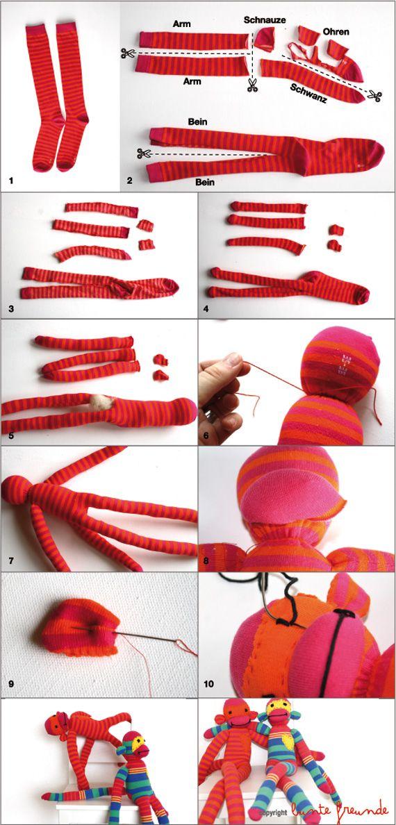 bunte freunde: TUTORIAL: let`s make monkeys...
