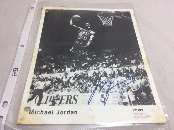 Michael Jordan NBA Bulls Photo Autographed Signed Signature Vintage #ChicagoBulls