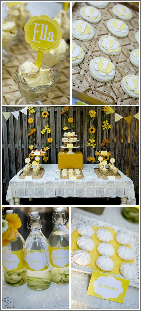 Sunny yellow sunflower party