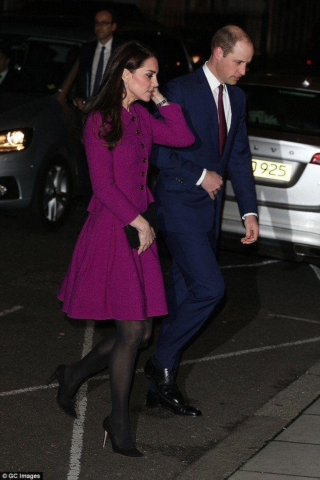 Make like Kate in a magenta skirt by Oscar de la Renta #DailyMail  Click 'Visit' to buy now