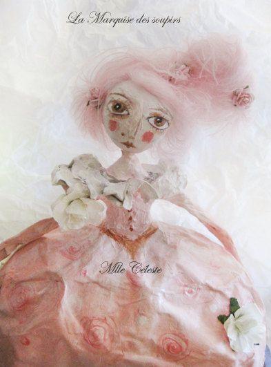 OOAK doll, art doll, La marquise des soupirs, victorian doll, paper mache doll, unique doll, art, https://www.etsy.com/fr/listing/213824610/ooak-doll-art-doll-la-marquise-des?ref=related-5