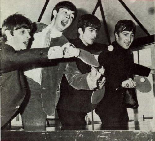 Beatles ping pong table tennis