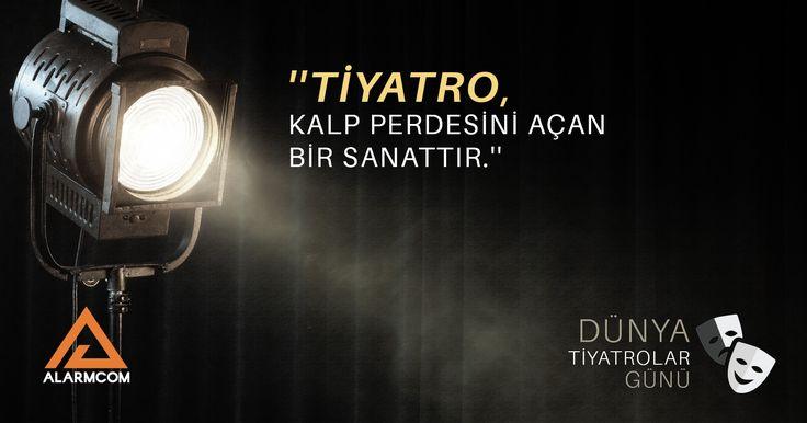 ''Tiyatro, kalp perdesini açan bir sanattır.'' #DünyaTiyatrolarGünü #tiyatro #theater