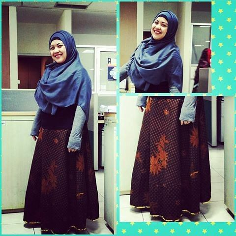 batik skirt for big body