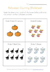 halloween counting printable halloween worksheetspreschool - Halloween Worksheets Preschool