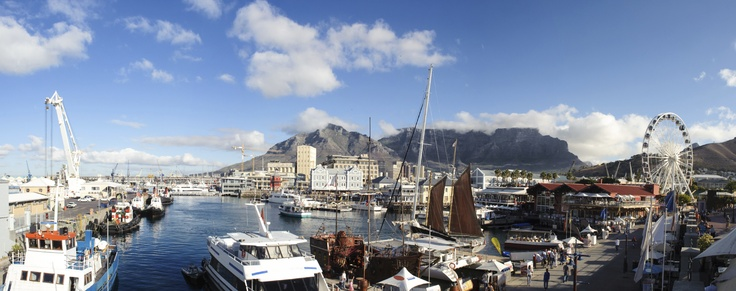 A panorama of the famous V Waterfront, where our sweepstakes winner and guest will enjoy a fabulous lunch. #CapeTown