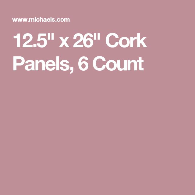 "12.5"" x 26"" Cork Panels, 6 Count"