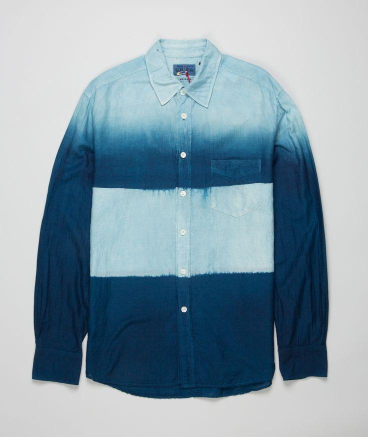 Norse Store - Woven Indigo Dyed LS Shirt