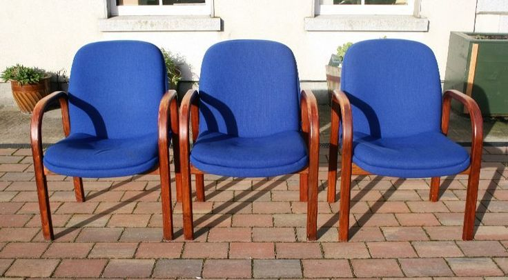 3 stunning Vintage upholstered Bentwood Chairs. 12.5 kilos each.