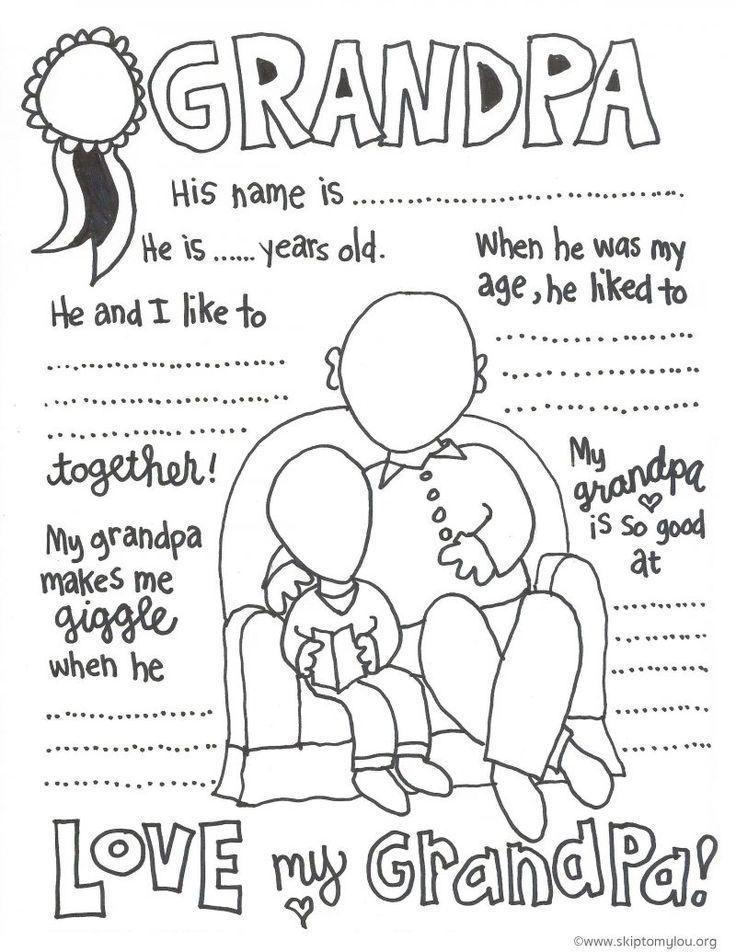 worlds greatest grandpa coloring pages - photo#9