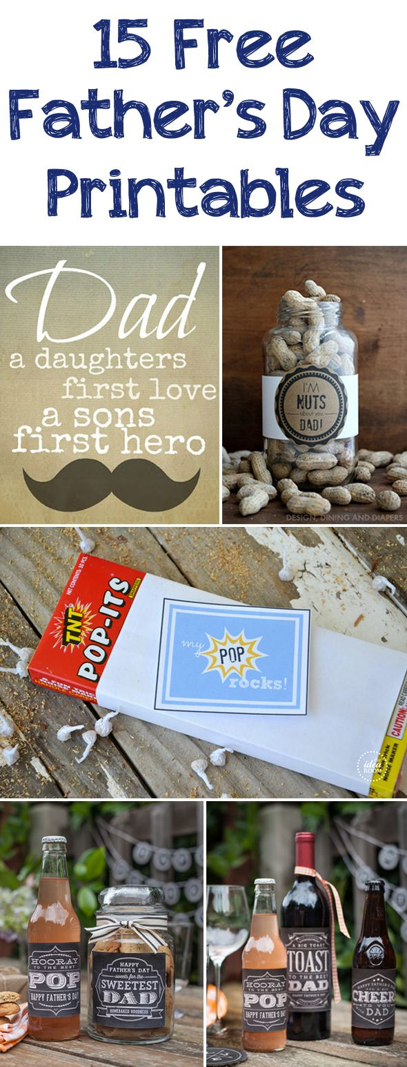 15 Free Father's Day Printables - Pretty My Party #free #fathersday #printables #dad