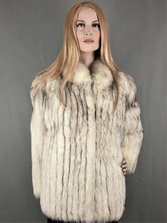 Blue Fox Pelz Blau Fuchs Pelz Mantel In 2020 Coat Shop Fashion