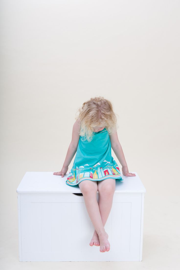 Story Time Dress in turquoise