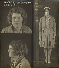 "Nellie Cameron, known as ""The Kiss of Death Girl"", was a notorious Sydney prostitute in the 1920s and 1930s. Cameron was associated with the razor gang violence of that era. Nellie Cameron received 73 criminal convictions during her life of crime, mainly for soliciting and vagrancy, and had the distinction of becoming the first woman in Australia to be convicted of consorting with criminals."
